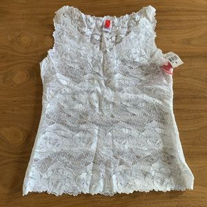 NWT Josie lace tank top size M in white